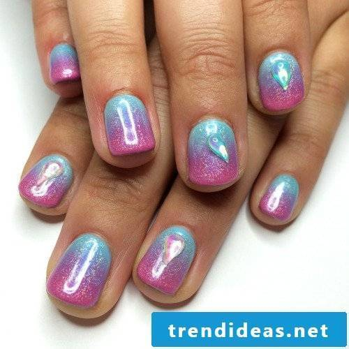 gel nails gallery colorful