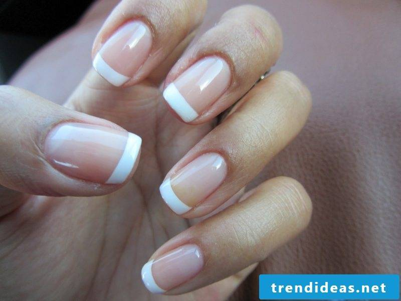 gel nails gallery white