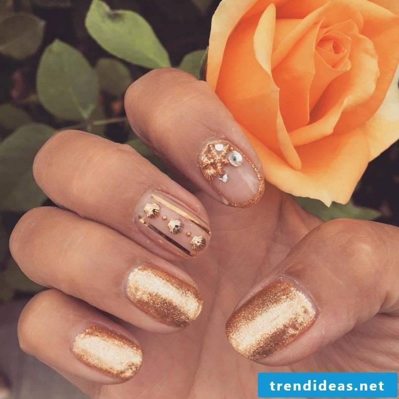 gel nails gallery orange