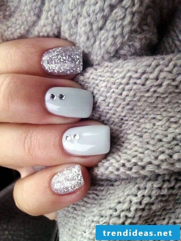 gel nails gallery gray