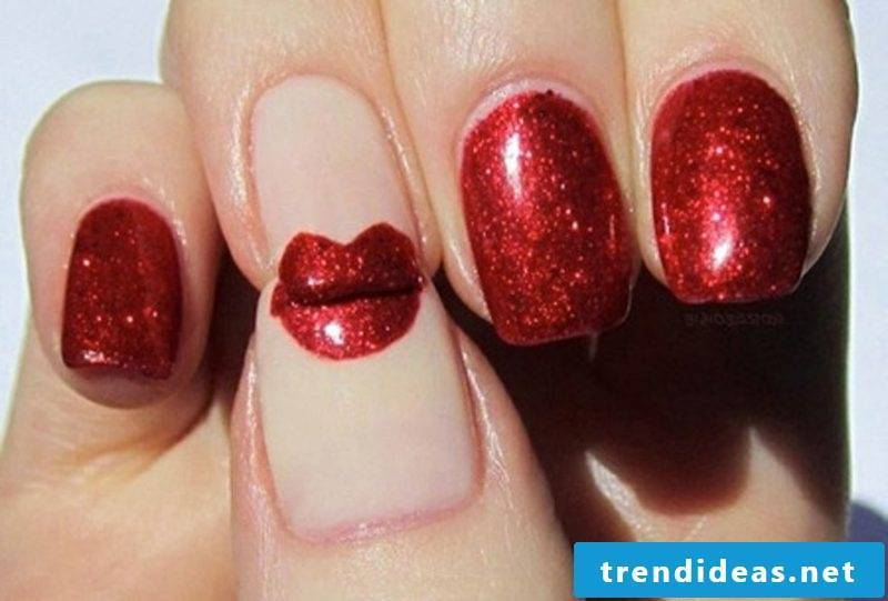 gel nails gallery red