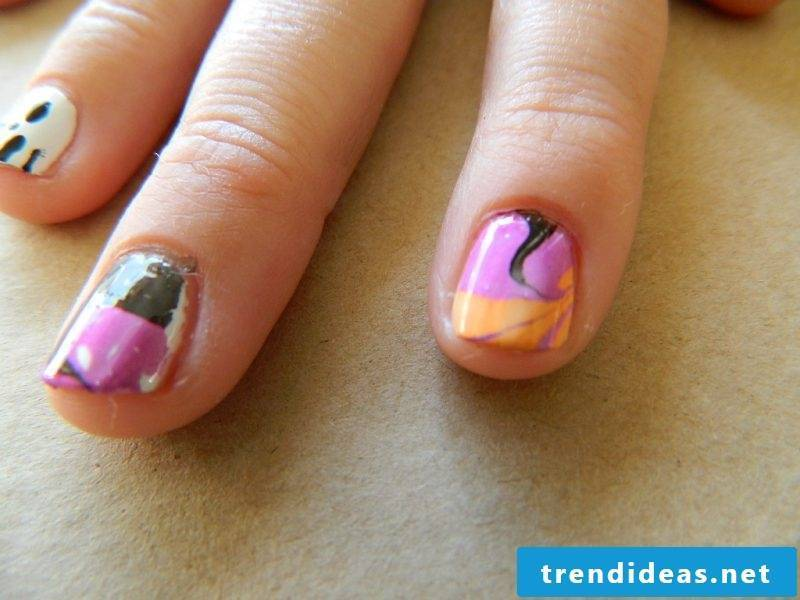 Gel nails motifs for Halloween: Instructions Step 6