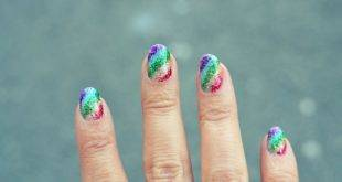 Gel nails with glitter - instructions for DIY + 22 beautiful ideas
