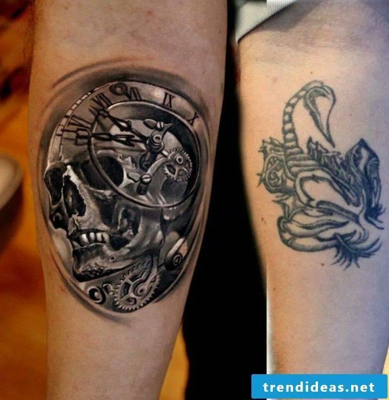 hip tattoo ideas cover up man