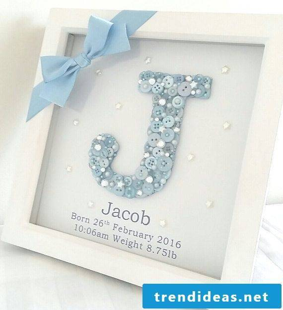 Crafting ideas for a baby's birthday present
