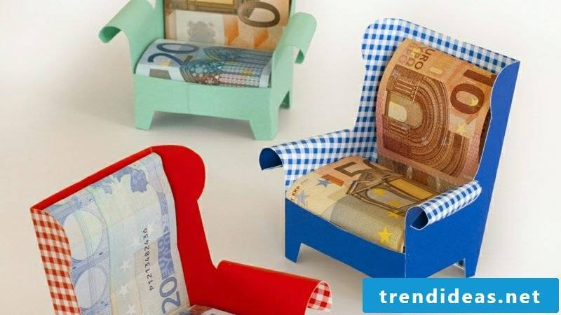 money gifts christmas armchairs