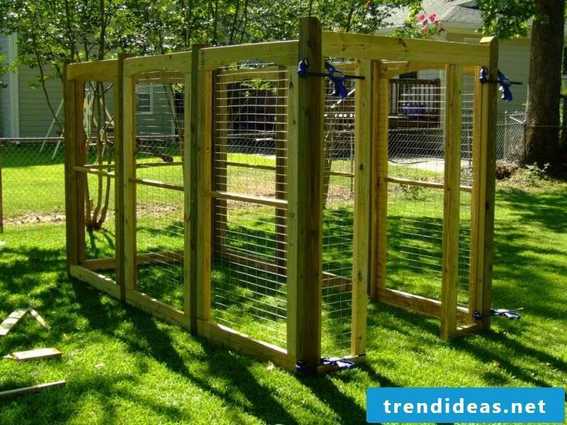Build dog kennels yourself: Step10