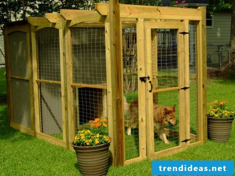 Build dog kennels yourself: Step 13