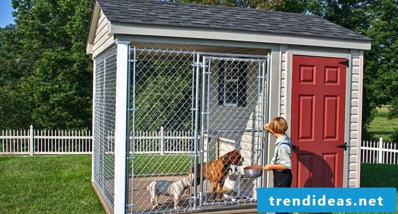 How can you build dog kennels yourself?