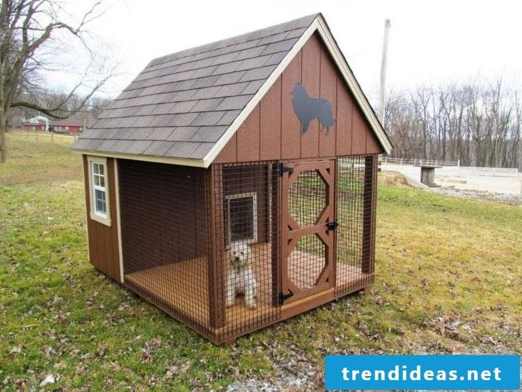Build a small dog kennel yourself!