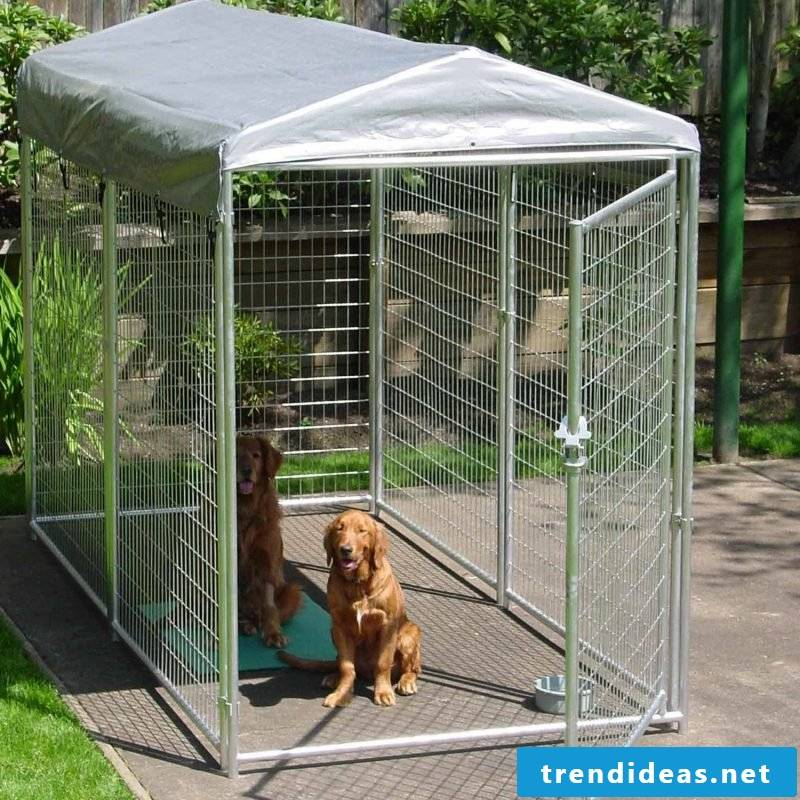 Build dog kennels yourself for your four-legged friend!