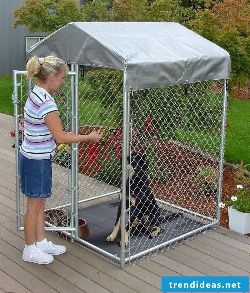 Save money: build dog kennels yourself!