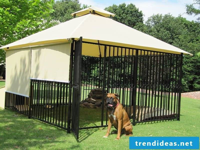 Build a beautiful dog kennel yourself!