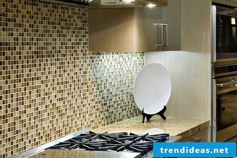 glass mosaic as wall tiles