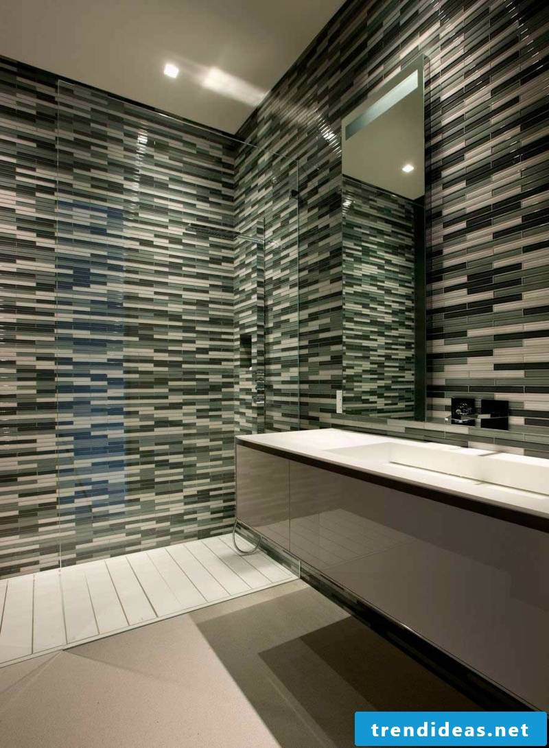 glass mosaic variety in shape and color