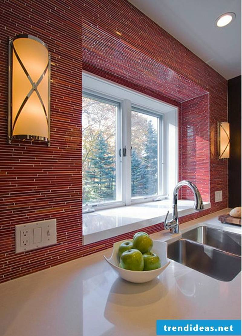 red glass stones glass mosaic