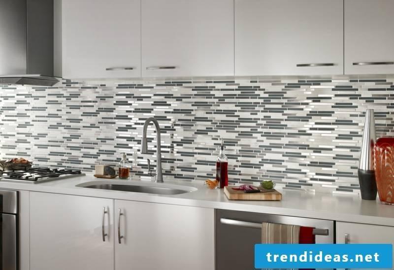 glass mosaic bright kitchen
