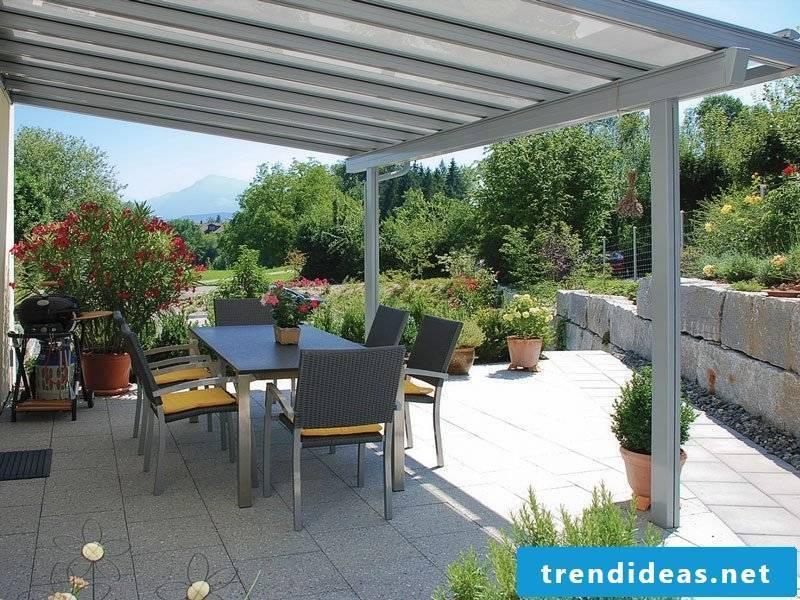 creative terrace design glass roof