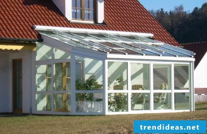 Glass roof terrace