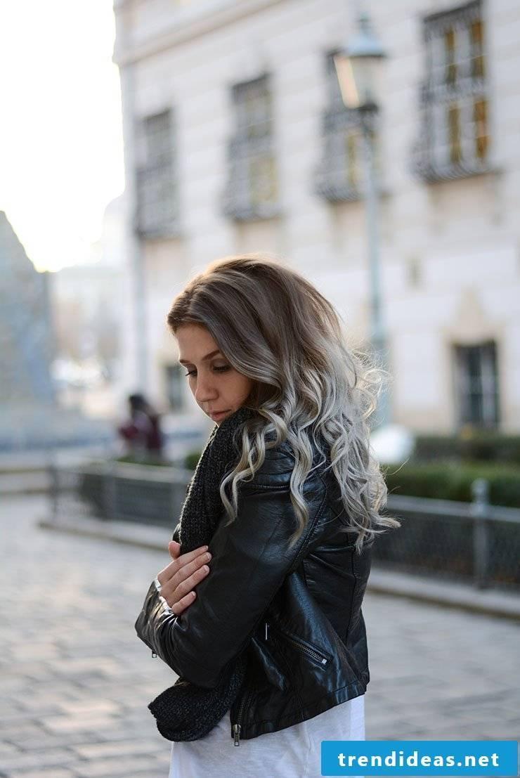 Ombré gray hair