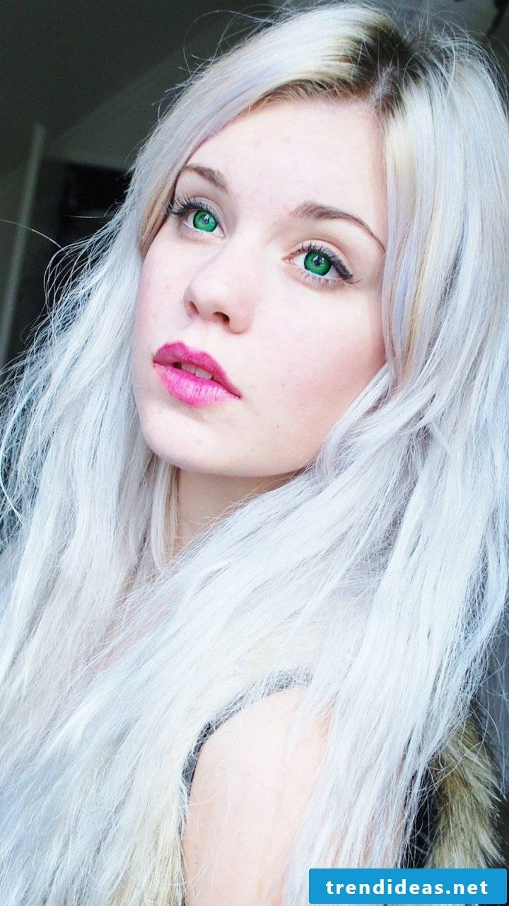 Gray hair: Combine shades of gray with blonde