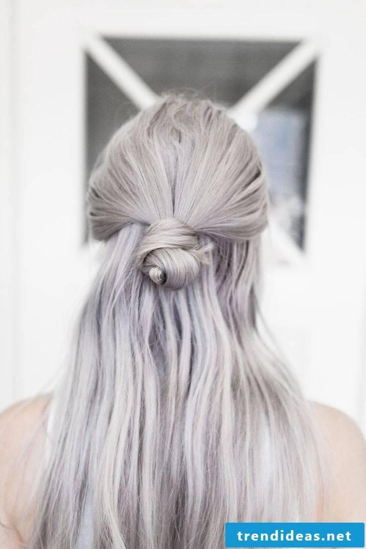 Shades of gray hair Granny Hair