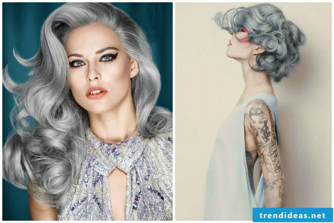 Grays in the hair: How to dye hair gray