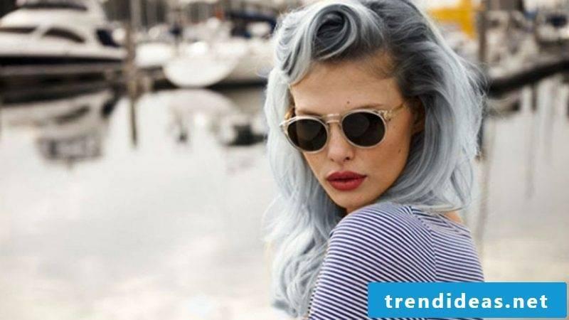 Shades of gray - Ombré Blue hair