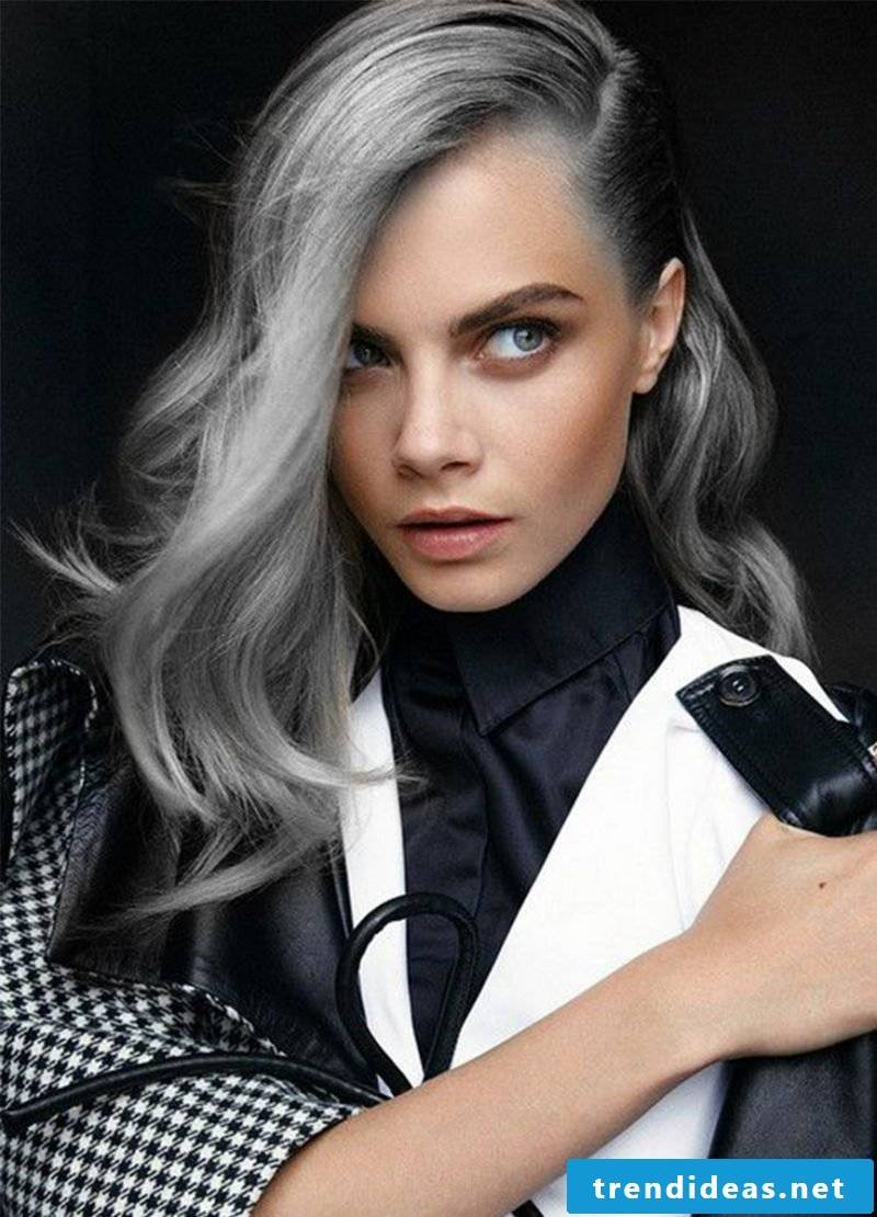 Gray hair is the new blond