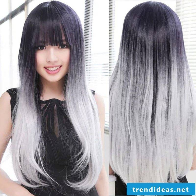 Dyeing gray hair - this is how you create Ombré
