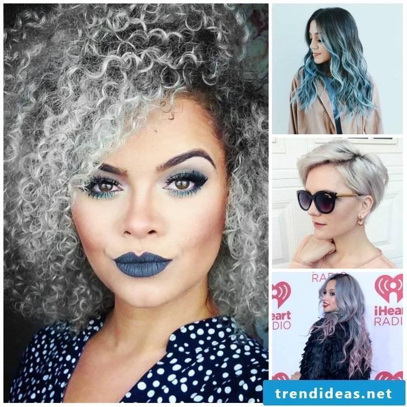 Gray hair of celebrities