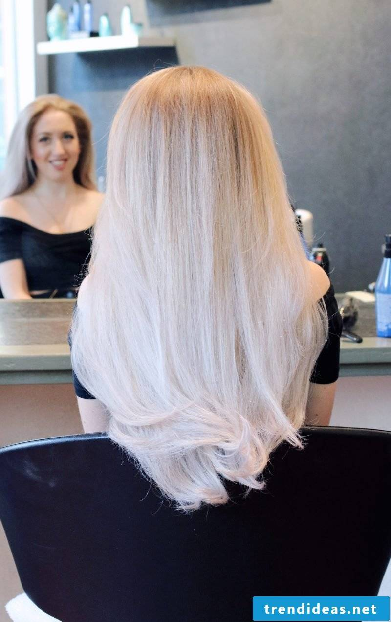Shades of gray for blonde hair