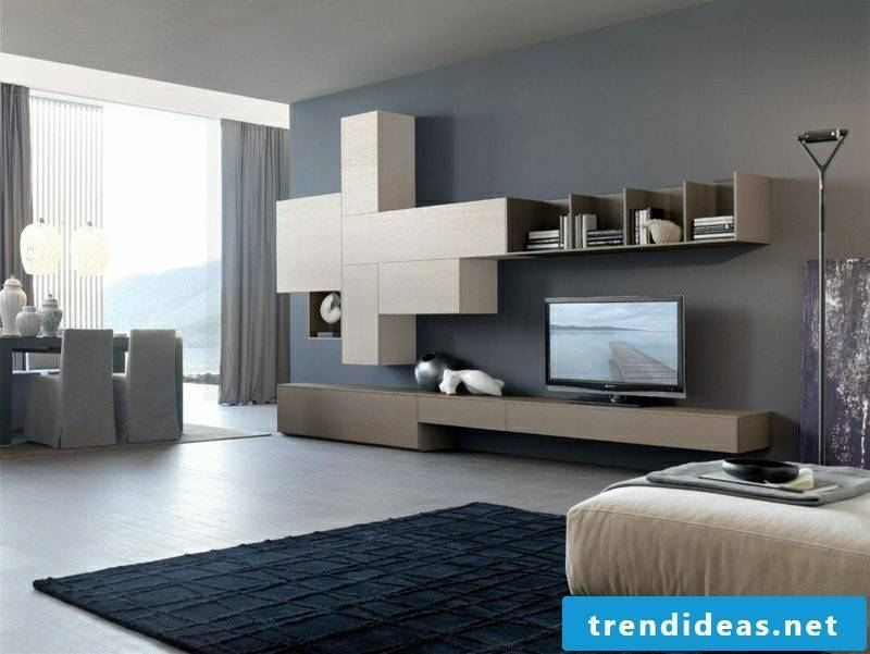 Gray tones wall design Living room set up
