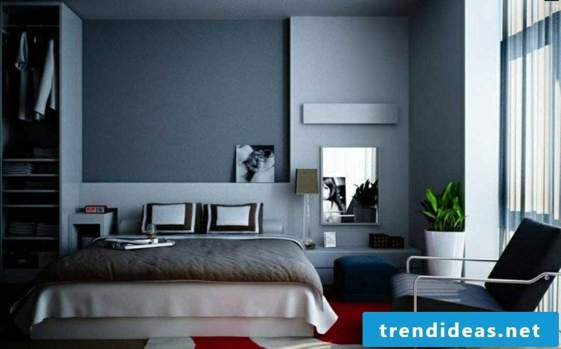 Bedroom wall color gray cozy