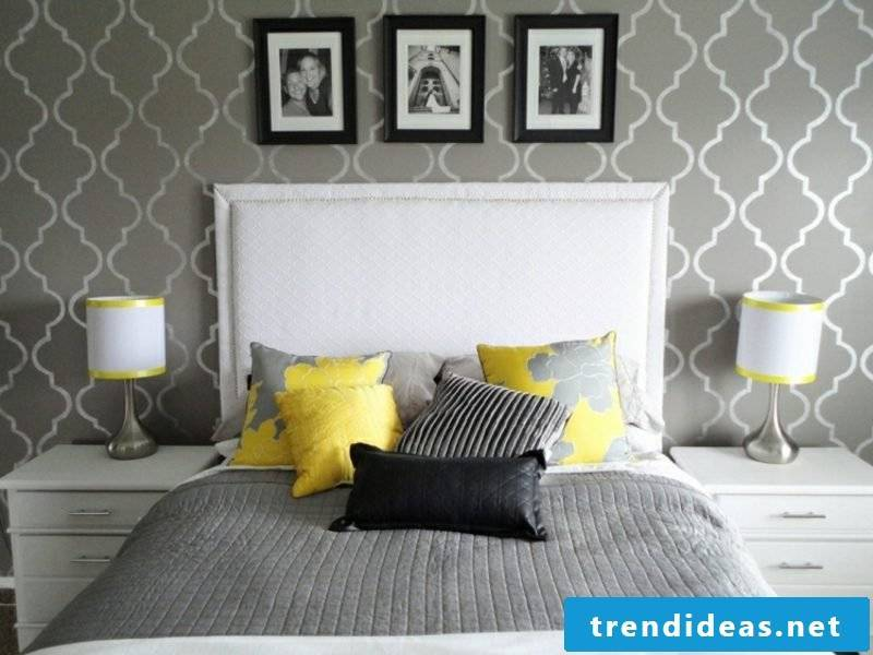 Bedroom wall color modern light gray