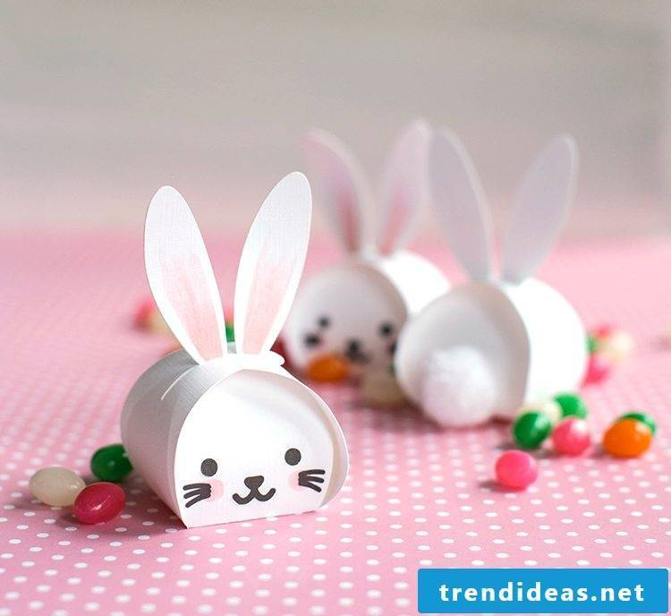Craft Ideas Easter: DIY cute Easter Bunnies - box with sweets