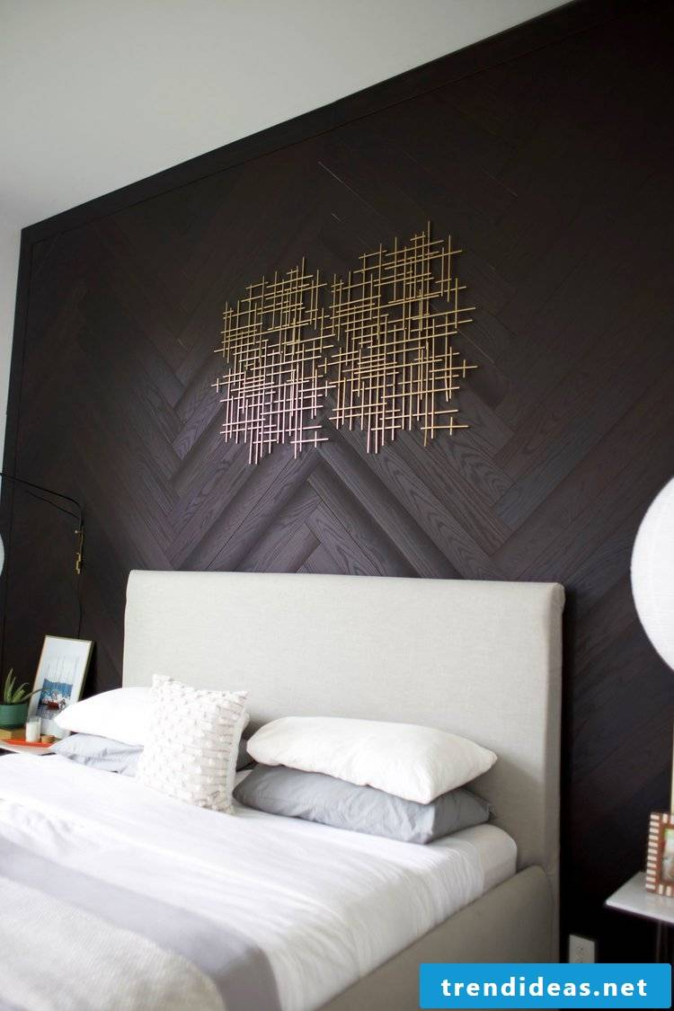 Creative home decorating ideas for wall cladding - photo tutorial