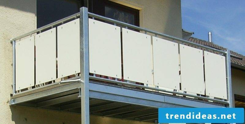 Balcony cladding permanently stable metal plates