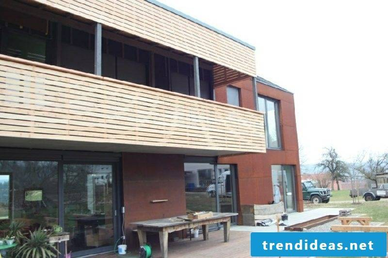 Privacy protection Balcony paneling wood