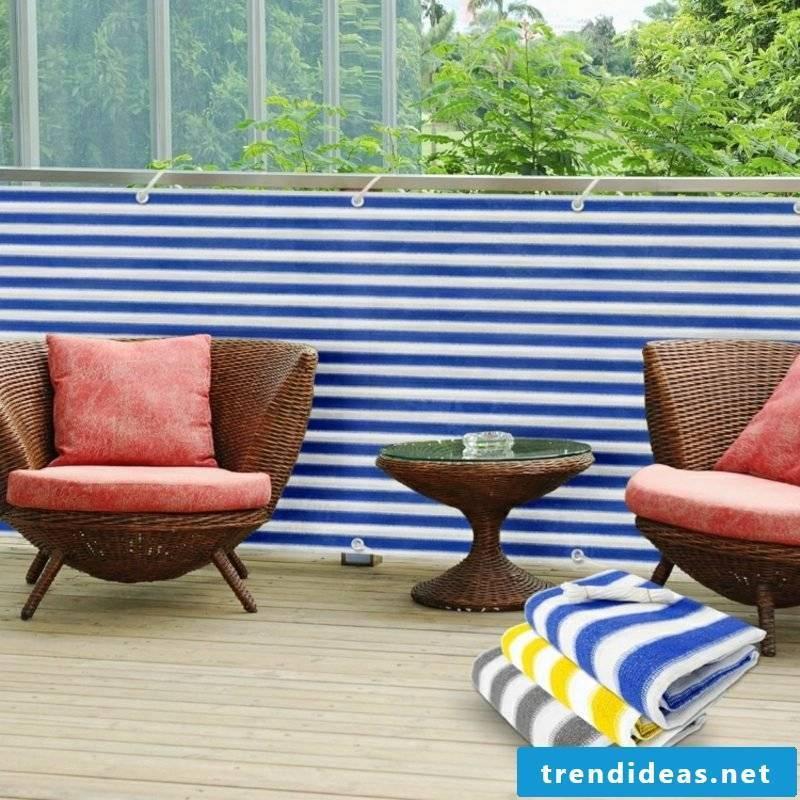 Balcony paneling fabric striped pattern