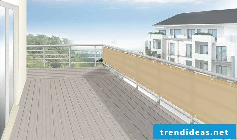 Balcony covering fabric screen