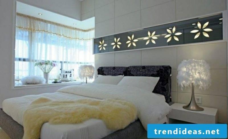 Wall framing bedroom lit panels