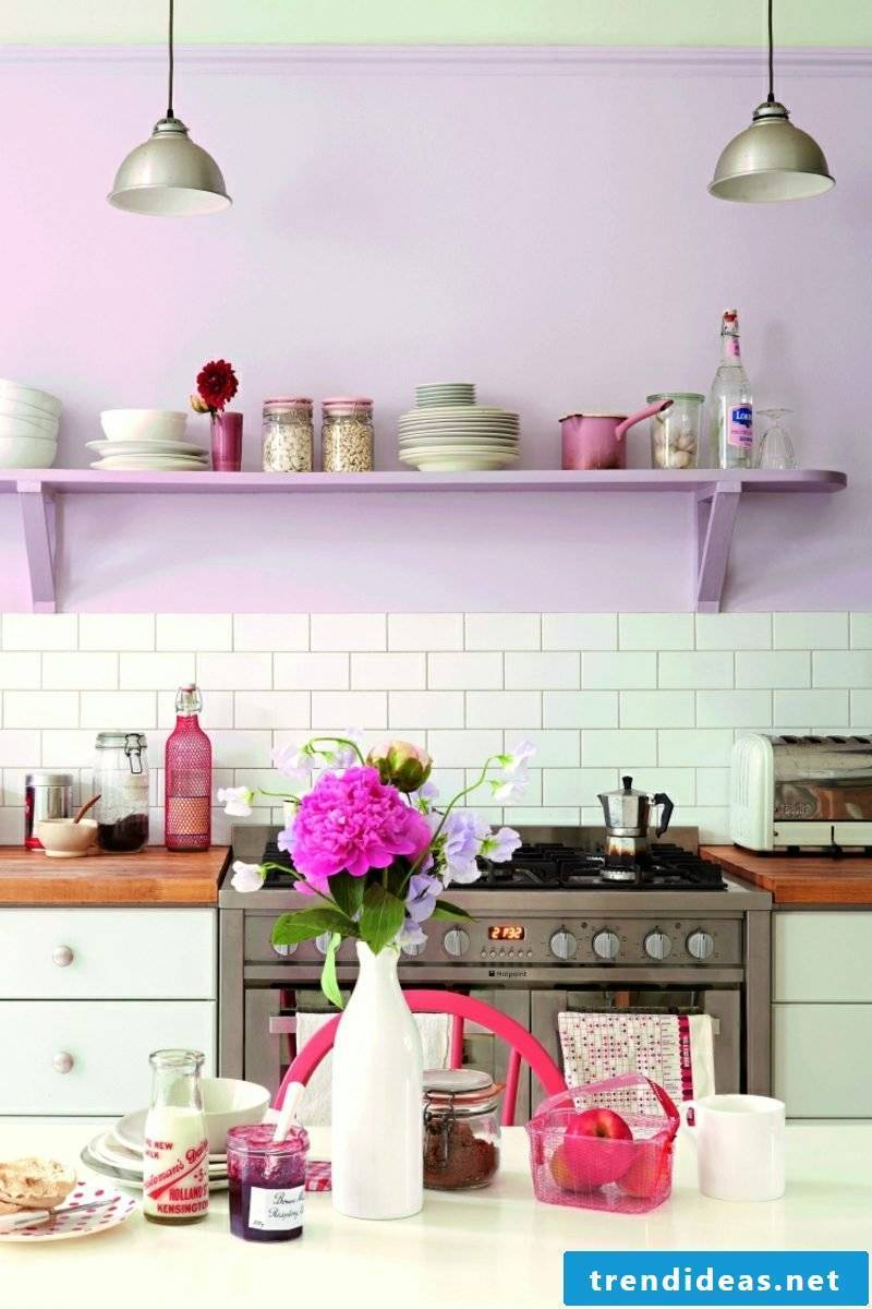 Wall painting pattern kitchen pastel colors