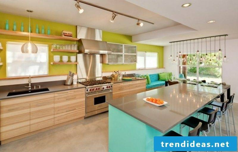 Wall decoration ideas kitchen great color accents