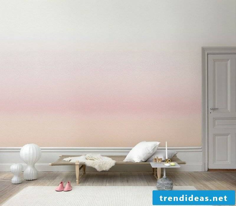 Wall decoration ideas living room wallpaper with gradient