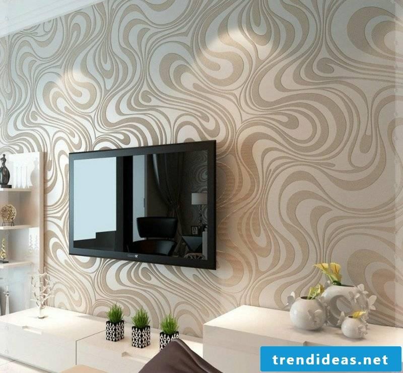 Wall decor living room gorgeous wallpaper cappuccino