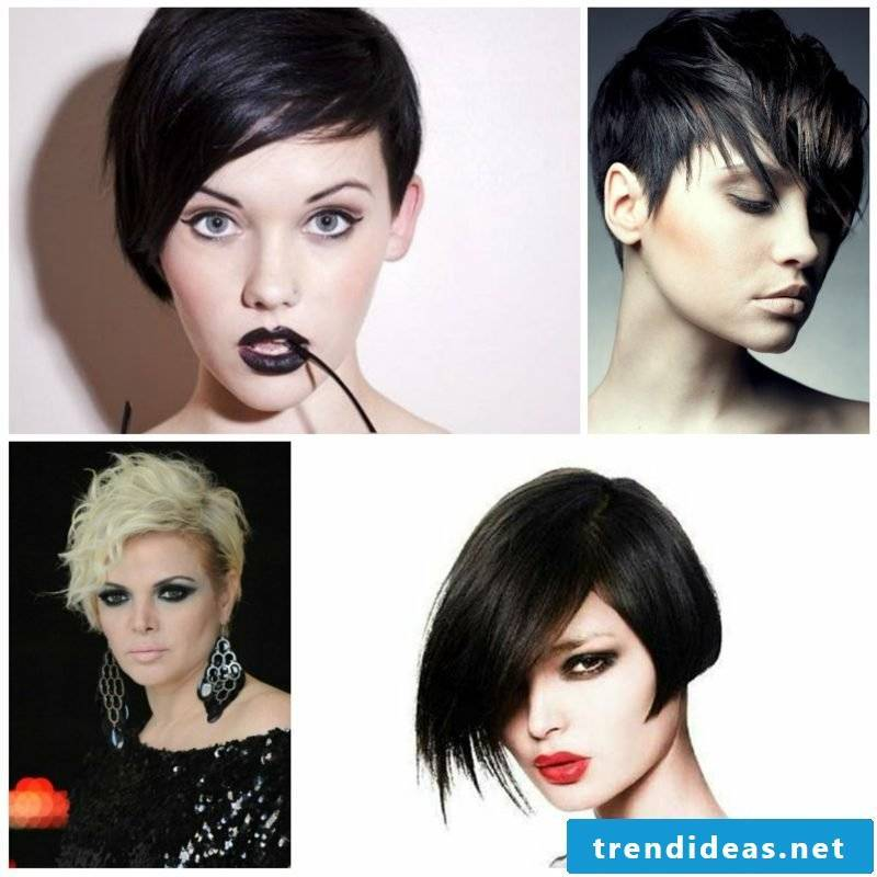 women's hair undercut asymmetrical short hair
