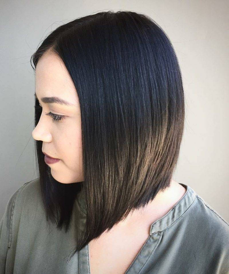 Bob haircut half-length hair