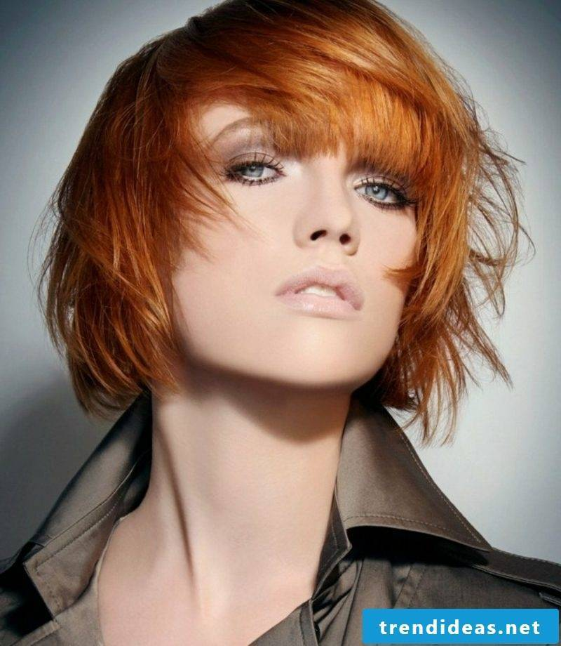 original short hairstyle red hair copperhair hair coloring lunar calendar