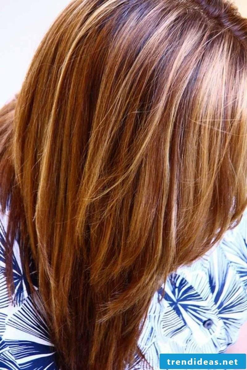 Hair color caramel